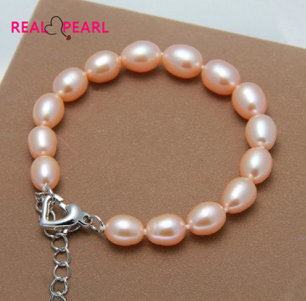 REAL PEARL Fashion Cultured Freshwater Pearl Bracelet Natural Pearl Jewelry for Women(China (Mainland))