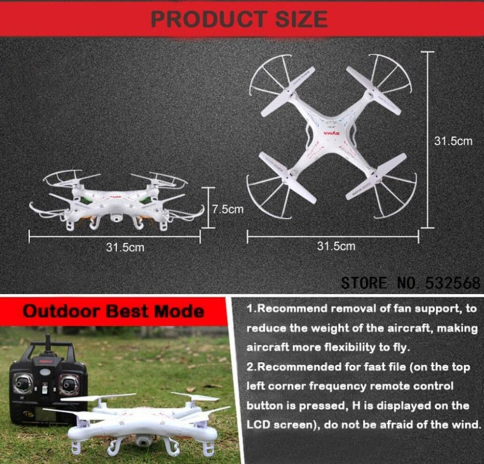 Freeshipping RC Drone With HD Camera SYMA X5C Upgraded 2.4G 4CH 6-Axis Remote