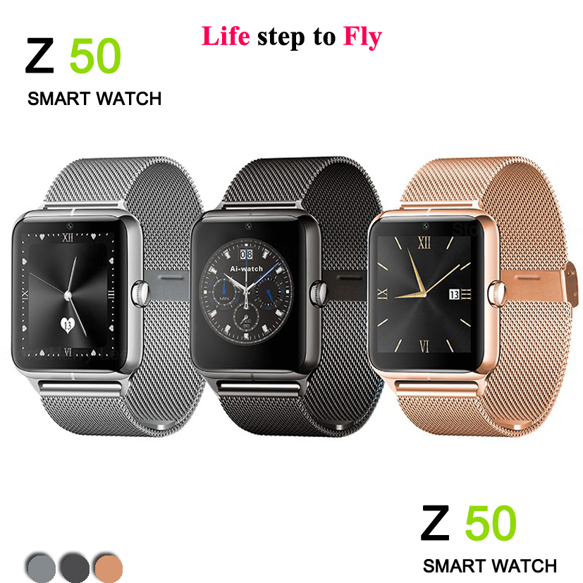 2016 New fashion Z50 Bluetooth Smart Watch Heart Rate SIM card TF Mp3 Mp4 pedometer sleep Monitoring IOS Android phones - Yusiness,science and technology store