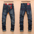 Denim Pants Men s Jeans Vintage Style Four Seasons Jeans Male Straight Washed Men s trousers