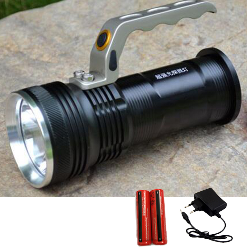 Protable Searchlight Led Flashlight Cree Q5 Long Range Hand Torch Linternas High Bright Flash Light +18650 Battery + Ac Charger(China (Mainland))