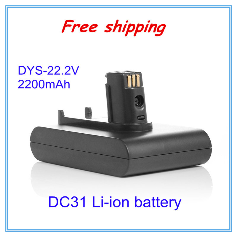 Free shipping 22.2V 2200mAh Li-ion battery For Dyson vacuum cleaner Animal DC31 DC34 DC35 917083-01(China (Mainland))