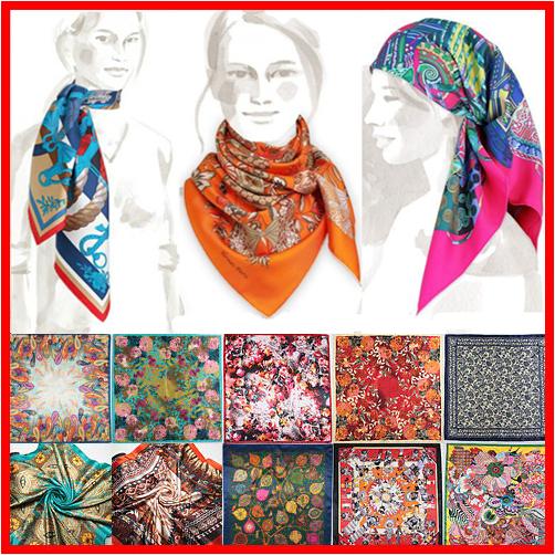 2015 Spring New Fashion Brand High Quality Big Size 90x90cm Women Imitated Silk Square Scarf 20 Designs Lowest Price(China (Mainland))