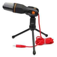 Professional Skype Stereo Condenser Sound Podcast Microphone Mic PC Laptop Free shipping