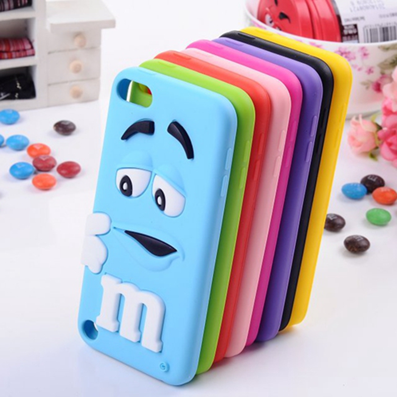 Luxury perfume chocolate bean design candy rubber soft silicone 3d cartoon cell phone case covers for apple ipod touch 5 5th(China (Mainland))