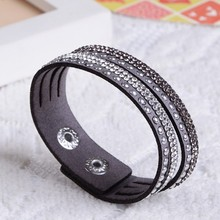 New Fashion Leather Bracelet! Factory Discount Prices, Charm Bracelet!1 Free Shipping!(China (Mainland))