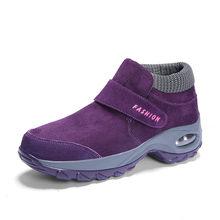 Bộ Sạc Pinsen 2020 Mùa Đông Nữ Ủng Thời Trang Nữ Ấm Áp Đẩy Nền Tảng Mắt Cá Chân Giày Bốt Nữ Cao Gót Chống Thấm Nước Giày Giày Người Phụ Nữ(China)