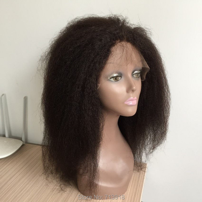 7A Glueless Lace front Wigs Brazilian kinky straight Hair Wig Bleached Knots Full Lace Front Hair Wigs For Black Women<br><br>Aliexpress