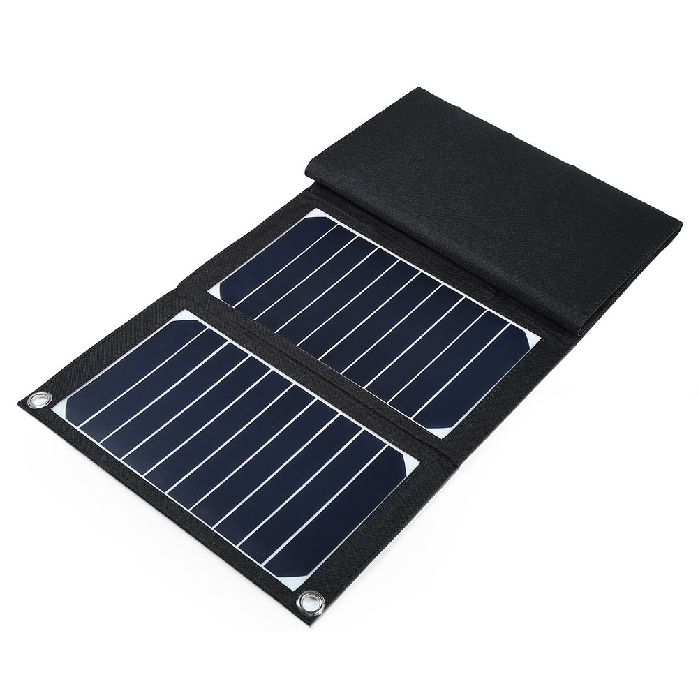 ELEGEEK 22W 5V Folding Solar Panel Portable High Efficiency Sunpower Dual USB Output Solar Panel Charger for iPhone & 5V Device