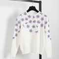 Super Luxury Embroidery handmade beading sweet women s sweater Fairy Style Females Rabbit Hair and Wool