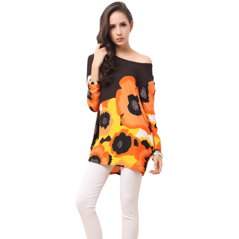 Buy 2014 Brand Clothing Style Lastest Fashion Women 39 S Casual Yellow Flower Long