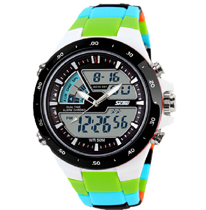 2016 New Men Sports Watches Waterproof Fashion Casual Quartz Watch Digital & Analog Military Multifunctional Mens Sports Watches