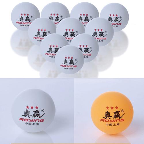 30Pcs/lot High Quality 3-Stars 40MM Olympic Table Tennis White Orange Ping Pong Balls GYD167(China (Mainland))
