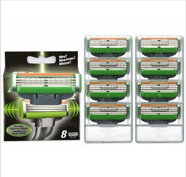Brand New 8pcs/lot Power 3 Blade System Shaving Razor Blades Shaver Blades Standard for Men RU & Eu US in Original package(China (Mainland))