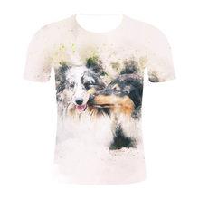 2019 Новая модная Мужская/женская футболка с 3D принтом волка дизайнерская Стильная летняя футболка брендовые топы футболки больших размеров ...(China)