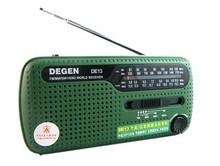 Tracking number+ DEGEN portable mini fm radio DE13 FM MW SW Crank Dynamo Solar power Emergency Radio World Receiver