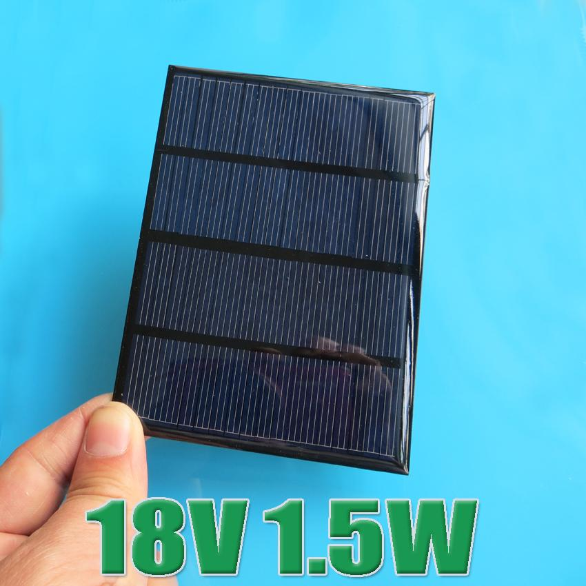 Hot Sale 12V 100mA 1.5W Mini monocrystalline polycrystalline solar Panel small solar cell 18V charger for 12V battery(China (Mainland))