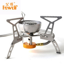 Buy Hewolf Mini Outdoor Portable Folding Windproof Stove Head Picnic Hiking Energy Saving Cooking Gas Burner Camping Equipment Oven for $34.97 in AliExpress store