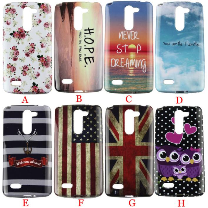 19 Modern 2015 Vogue Design Soft TPU Back phone Case For LG L Bello D331 D335 D337 Jun11(China (Mainland))
