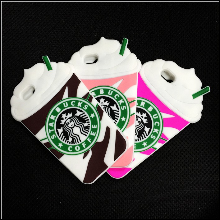 3D Cartoon Silicon Starbuck Coffee Cup Case Cover Apple iPhone 4 4s 5 5s 6 4.7 inch Plus Mobile Phones - Ziver'phone case&package store