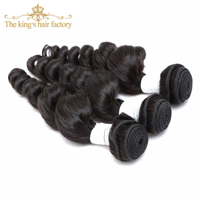 Mocha Hair Brazilian Loose Wave 3 Bundles With Closure 8A Unprocessed Brazilian Hair Weave Bundles Beauty Human Hair withClosure