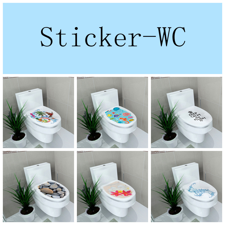 34 46cm sticker wc pedestal pan cover sticker toilet stool commode stickerwc home decor in wall - Decoration toilette ...