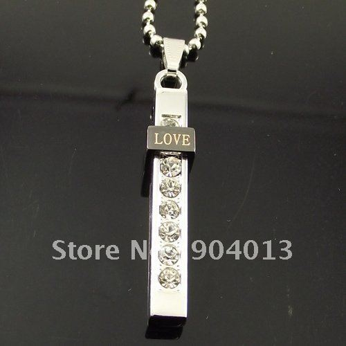 10 pcs Stainless Steel Ball Chain Love Letter Necklace Alloy Pendant Bible Cross Long Necklace Free Shipping