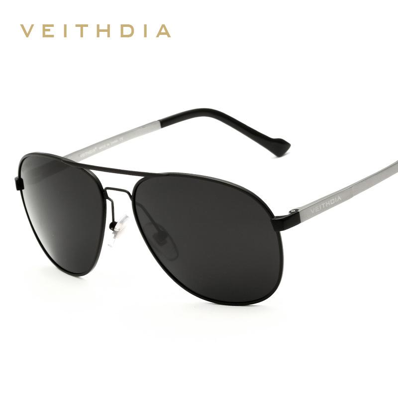 VEITHDIA Brand Alloy Frame Sunglasses Coating Polarized ...