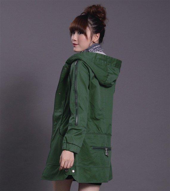 Wholesale women's coats, cotton coats 2011 black, yellow, green, pink, beigeFree shipping