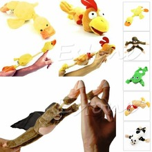 New Arrive Monkey Flying Slingshot Flying Plush Chicken Duck Screaming Novelty Fun Toys Kids(China (Mainland))