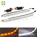 Universal DRL 3014 Chips Car Daytime Running Lights DRL Lamp Headlight Flexible Strip Light Angel Tear