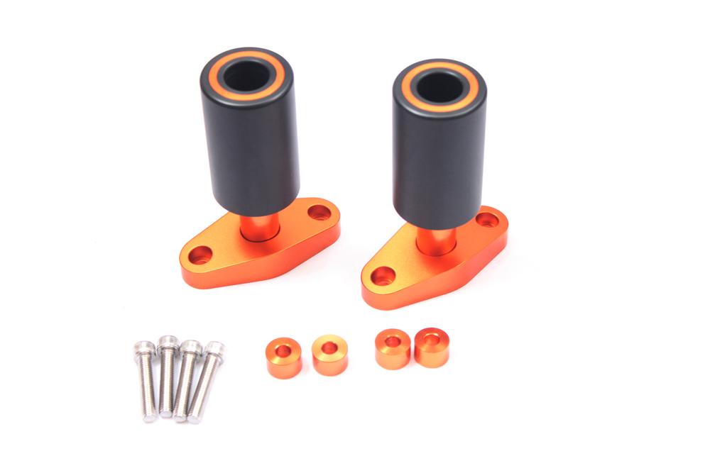 New Orange CNC Frame Sliders Protectors Guard For KTM DUKE 125 200 390 2012 13 14 15<br><br>Aliexpress