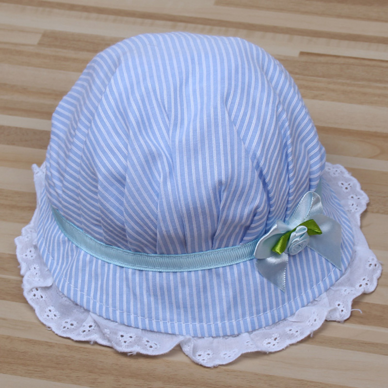 Summer Baby Caps Cotton Baby Hat Newborn Photography Props Rosette Baby Girl Hat -- MKE046 PT40(China (Mainland))