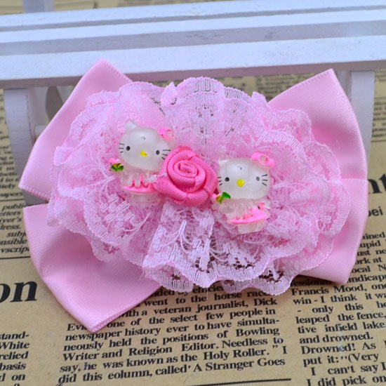 0 ( mix order ) Fashion Cute kitty hairpin children princess kid's girl party gift hair accessories H155