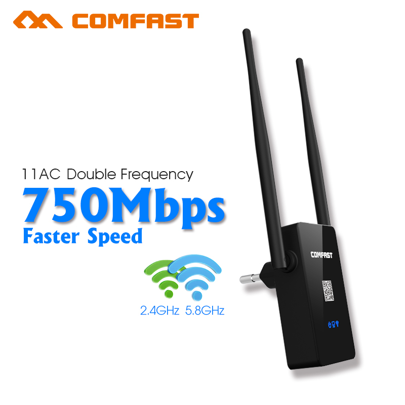 Comfast 750M Dual Band Wifi Repeaters 2.4GHZ/5G Mi Wireless Router 802.11AC WI-FI Amplifier repetidor wifi network WIFI Roteador(China (Mainland))