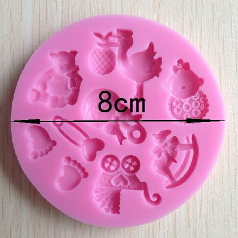 Cake Decorating Baby Mould : Mini Baby Doll Theme Food Grade Silicone Fondant Mold ...
