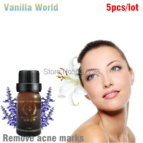 5 bottle lavender essential oil face care acne treatment scar removal acne aromatherapy massage oil acne treatment anti acne(China (Mainland))