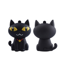 Cute Cartoon Silicone Black Cat USB Stick Flash Drive
