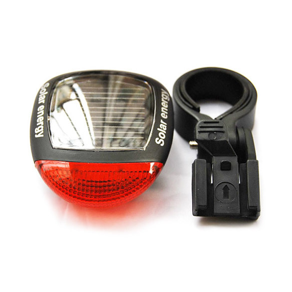 T2N2 New Solar Power LED Bicycle Bike Rear Tail Lamp Light Red(China (Mainland))