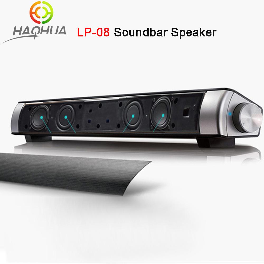Upgraded Newest HIFI Portable Bluetooth 10w Soundbar Mini Wireless Speaker Amplifier Stereo Sound Bar with Mic USB Amplifiers(China (Mainland))