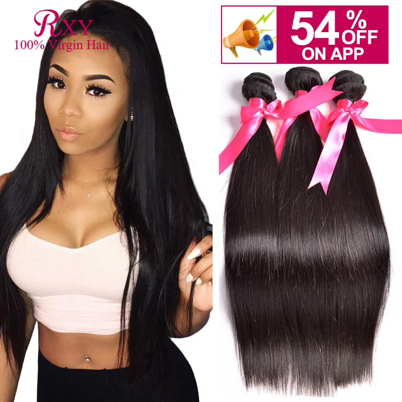 8A Malaysian Virgin Hair Bundle Deals Straight Bundles, 6'-28' Human Weave - Xuchang RXY Industrial & Trade CO.,ltd store