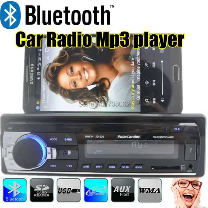 2015 New Car bluetooth radio one din MP3 car Audio bluetooth Player freehand Phone aux in USB/SD MMC Car Electronics In-Dash(China (Mainland))