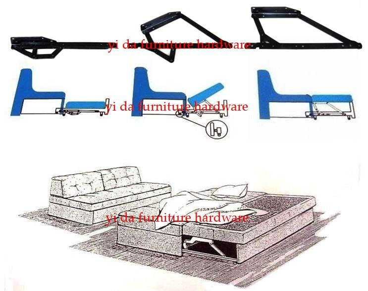 Furniture hardware multifunctional sofa bed hinge accessories