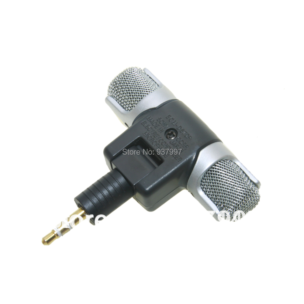3.5MM ECM-DS70p NEW Electret Condenser Stereo Mini Microphone for sony iPhone 5 5s 6 6S plus Sansumg Table PC and More with logo(China (Mainland))