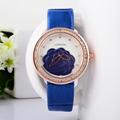 Classic Camellia Floral Women Elegant Leather Strap Dress Watches Quartz Girls Crystals Wrist watch 2 hands