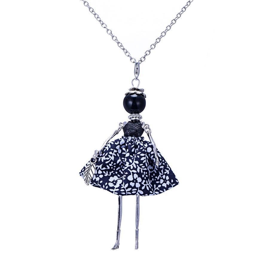 2015new doll pendant necklace sales charm key
