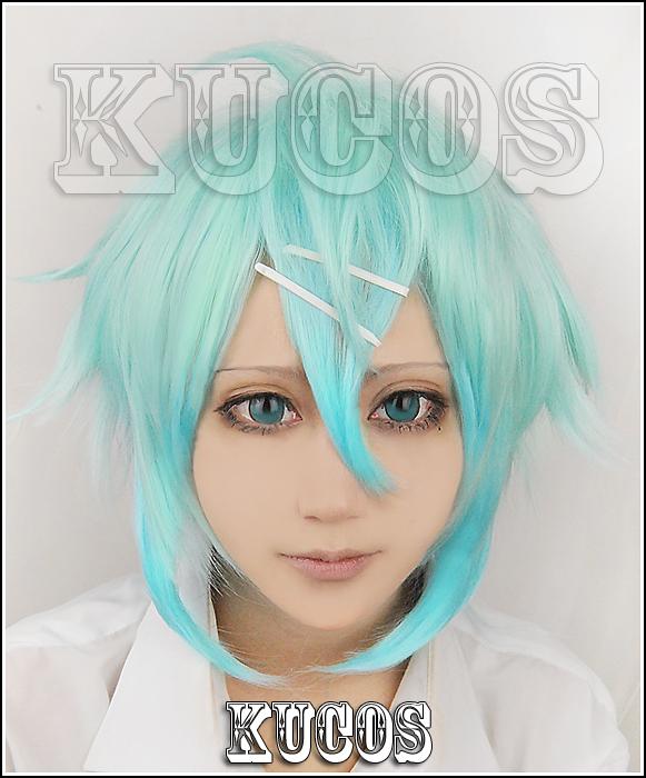 Anime Sword Art Online GGO Asada shino Sinon Cosplay Gradient Wig