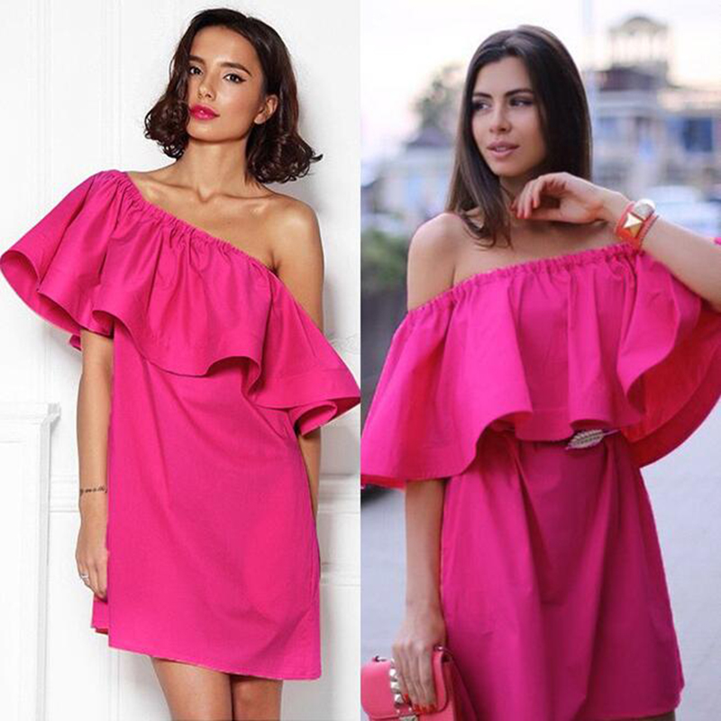 LUCY LIZZ long and short Sexy slash neck ruffles women tops tees Off shoulder beach summer Women blouses shirt party tube top(China (Mainland))