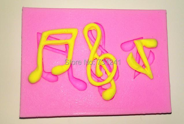 Design 557 Mini Mold Musical Notes Silicone Mold,Sugar Mold, Chocolate Cake Decoration Tool - Ningbo Widon International Co., Ltd. store