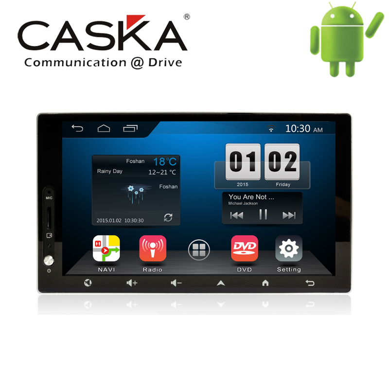 7'' 1024 x 600 CASKA Interchangeable Car DVD Player Android 4.4.2 OEM standard in-dash Suitable for all car models car GPS DVD(China (Mainland))